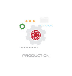 Cog wheel production business industry process vector