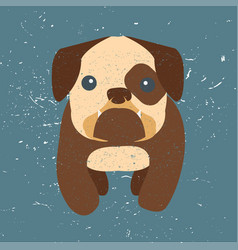 cute bulldog vector image