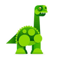 cute cartoon dinosaur on white background vector image