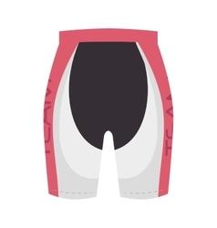 Cyclist sport wear pants vector