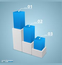 Data 3d growth chart vector