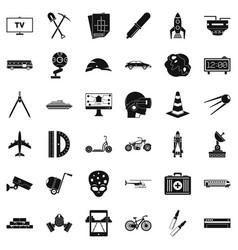 development icons set simple style vector image