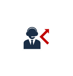 diverted call center logo icon design vector image
