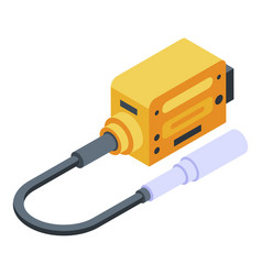 Electric adapter plug icon isometric style vector