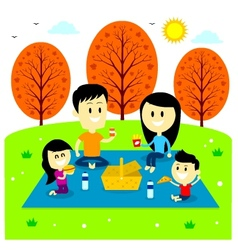 Family Fun Picnic at The Park vector