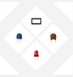 flat icon technology set of mainframe triode vector image