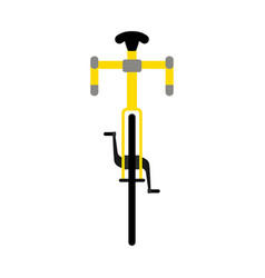 front view of a bicycle vector image