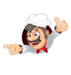 Funny italian chef vector