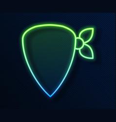 Glowing neon line cowboy bandana icon isolated on vector