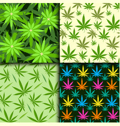 Green marijuana background vector