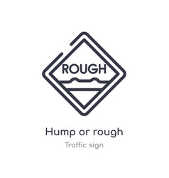 Hump or rough outline icon isolated line from vector