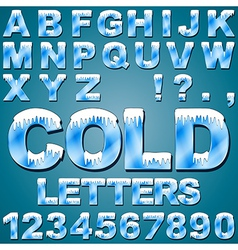 Ice Cold Letters vector image vector image