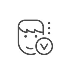 Identity verification line outline icon vector