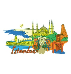 Istanbul doodles vector