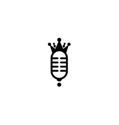 King podcast logo design template vector