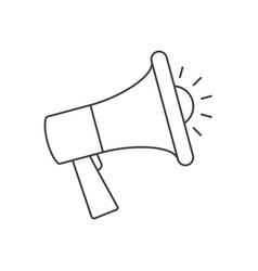 Loudspeaker outline icon promoution concept vector