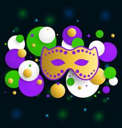 mardi gras background vector image