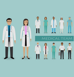 medical team doctors and nurses standing vector image