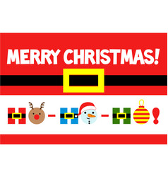 merry christmas greeting card ho-ho-ho vector image