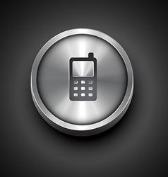 metal icon vector image