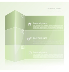 Modern template in the form of a box vector image