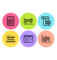 Music making mail letter and start business icons vector