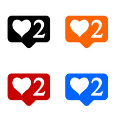 new two like icons set vector image