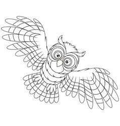 Night owl flying vector