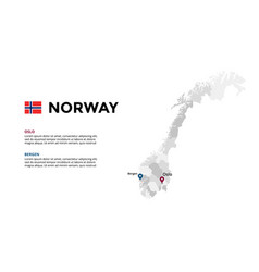 norway map infographic template slide vector image