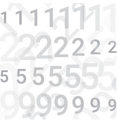 On a white background there are lines with numbers vector