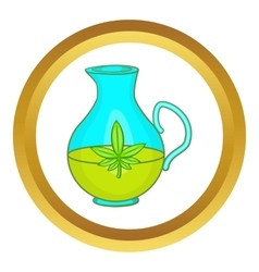 Organic hemp oil icon vector