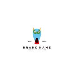 Owl colorful logo design vector