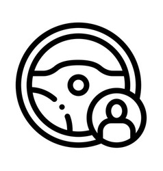 Personal driver icon outline vector