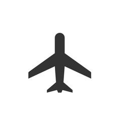 plane glyph icon or aviation concept vector image