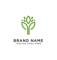 plants logo design inspiration vector image