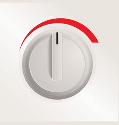 Plastic knob a cooker vector