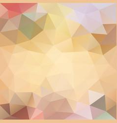 Polygonal background in creamy beach tones vector