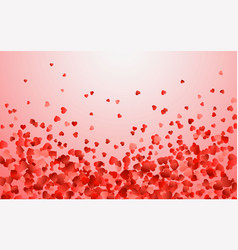 realistic isolated heart confetti on the vector image