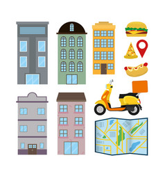Set of delivery elements vector