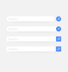 set search bar element design set search boxes vector image