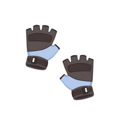 Short fingerless gym gloves for sports exercises vector