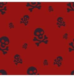 Skull Pattern Red vector image