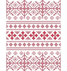 Snowflakes seamless pixel pattern vector
