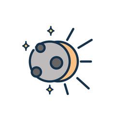 sun eclipse phenomenon astronomy and space vector image
