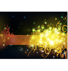 swirls and sparkles vector image