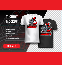 t-shirt template of knights offer logo vector image