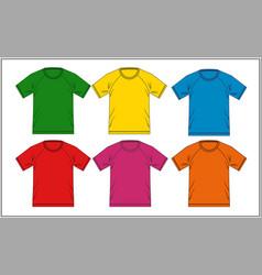 t shirt template raglan vector image