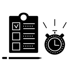 time management icon sign o vector image