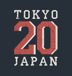 Tokyo japan typography for design clothes t-shirt vector