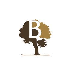 tree letter b vector image